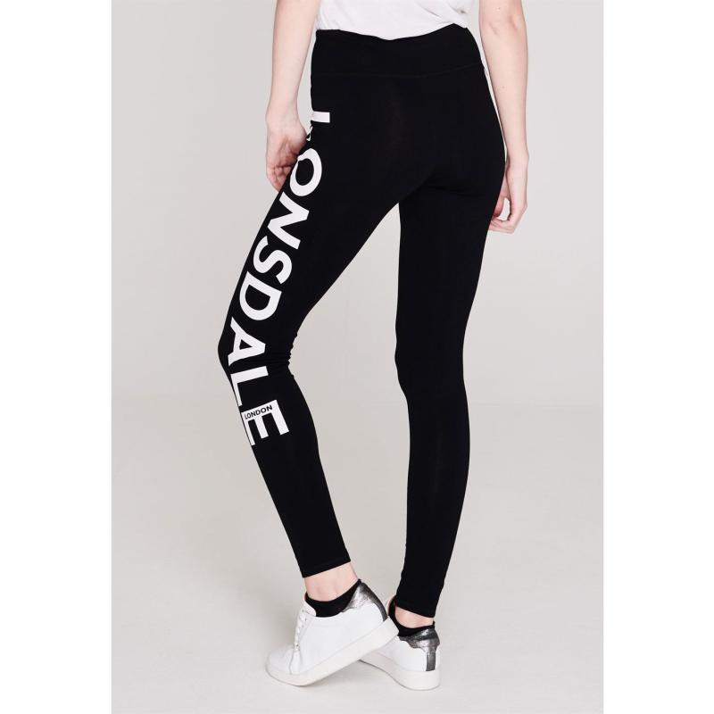 Legíny Lonsdale Leggings Ladies Black