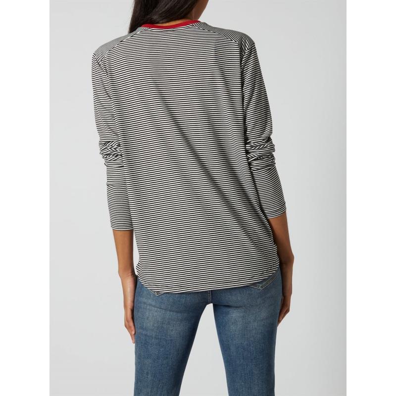 Tričko Maison De Nimes Contrast Collar Striped Top