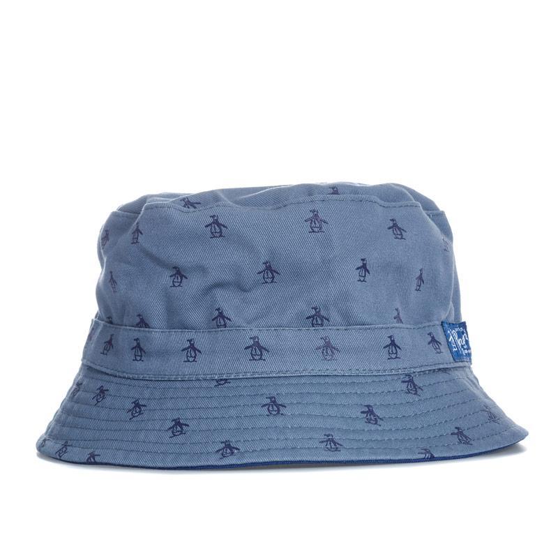 Original Penguin Mens Pete Reversible Bucket Hat Navy