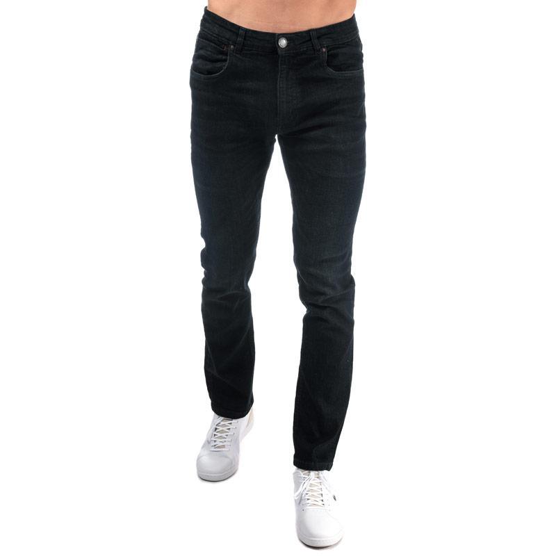 Ringspun Mens Sparta Relaxed Slim Fit Jeans Denim
