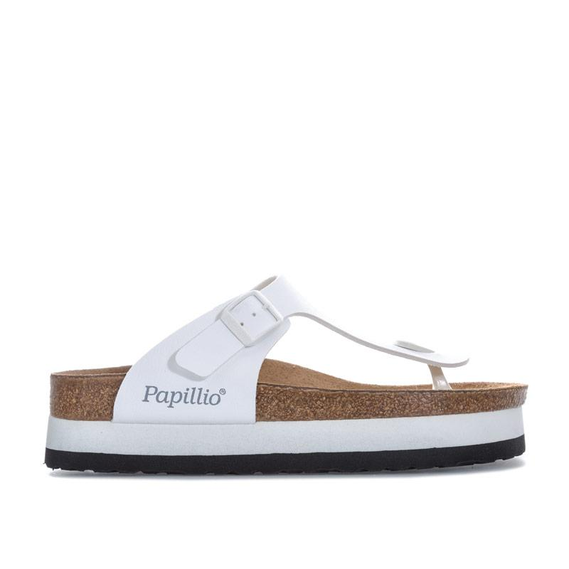 Boty Papillio Womens Gizeh Plateau Sandals Regular Width White