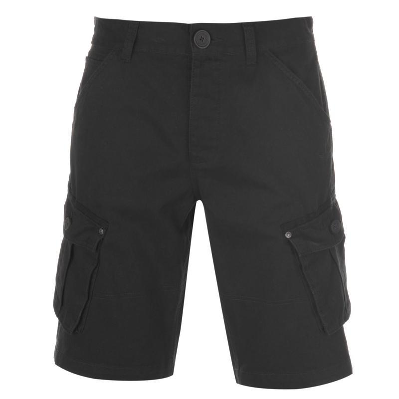 Firetrap BTK Shorts Mens Washed Black