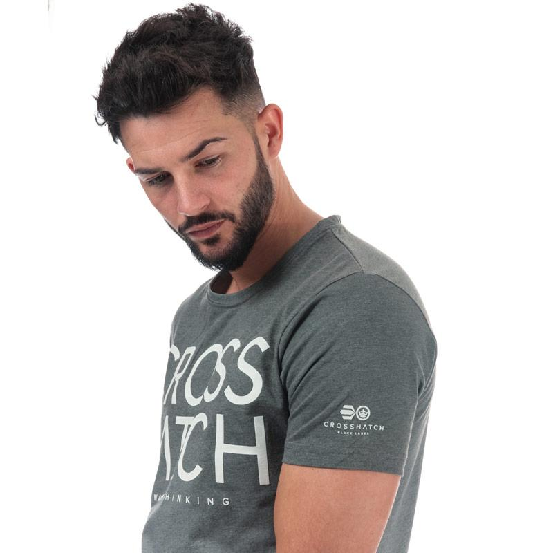 Tričko Crosshatch Black Label Mens Slenford Sub T-Shirt Khaki