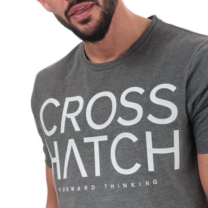 Tričko Crosshatch Black Label Mens Slenford Sub T-Shirt Charcoal