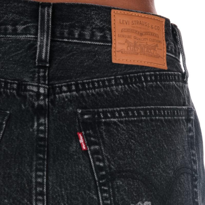 Sukně Levis Womens Deconstructed Gimme Danger Skirt Black