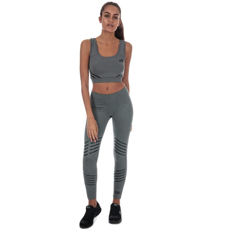 Skechers Womens Jaya Sports Bra Grey Marl