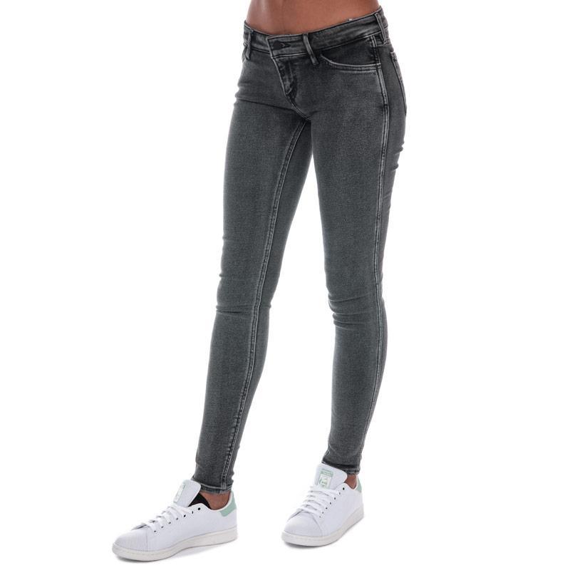 Levis Womens Line 8 Low Super Skinny Steff Jeans Grey