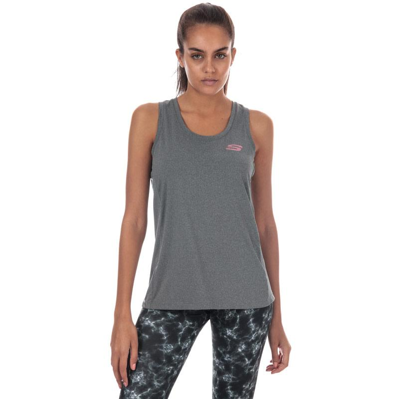Skechers Womens Phoebe Loose Fit Vest Grey Marl