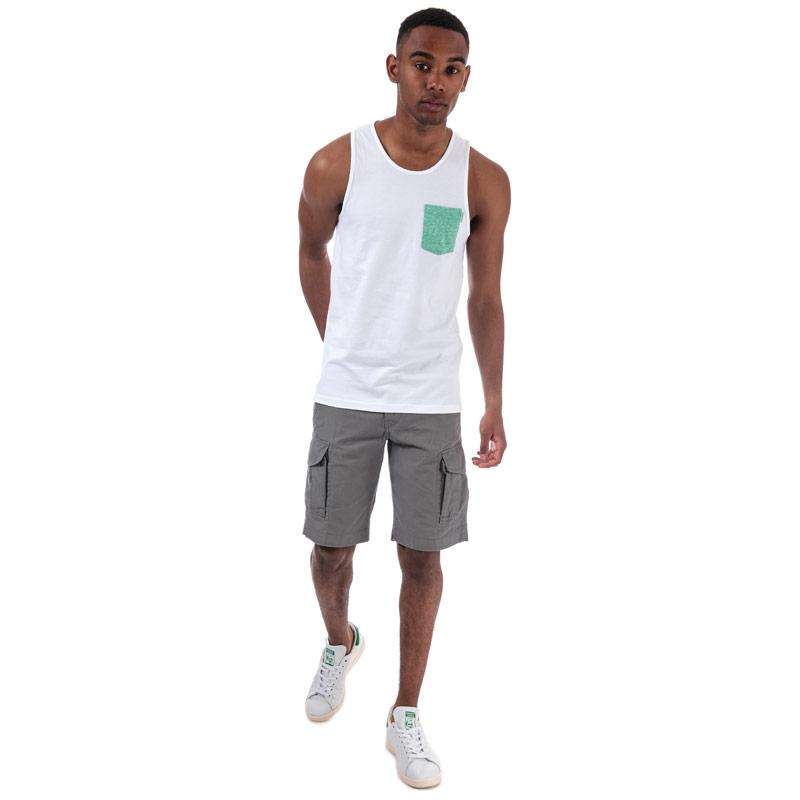 Tílko Jack Jones Mens Boston Vest White
