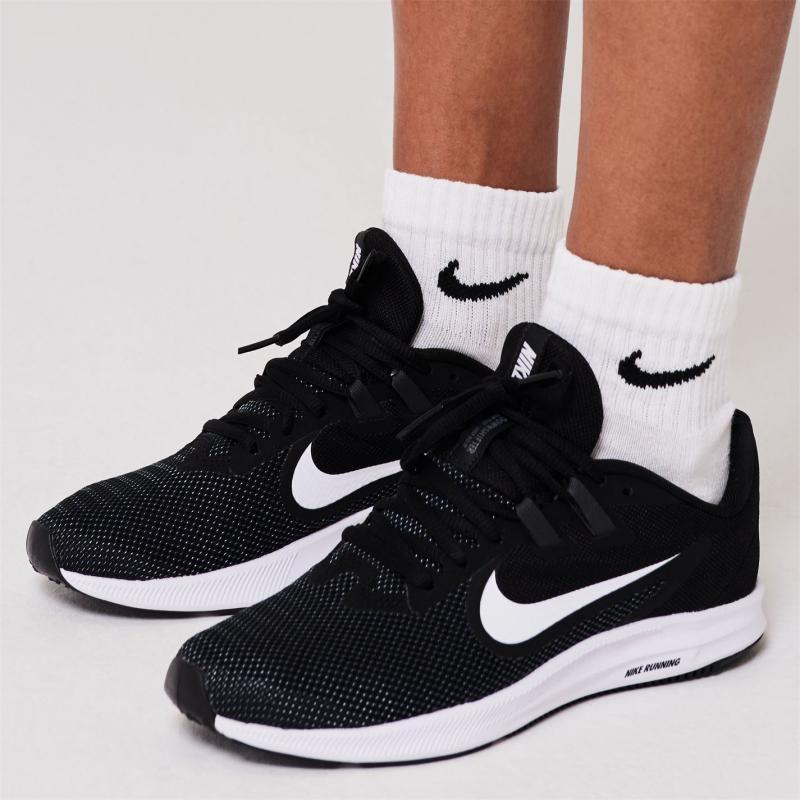 Nike Downshifter 9 Women's Running Shoe Black/White