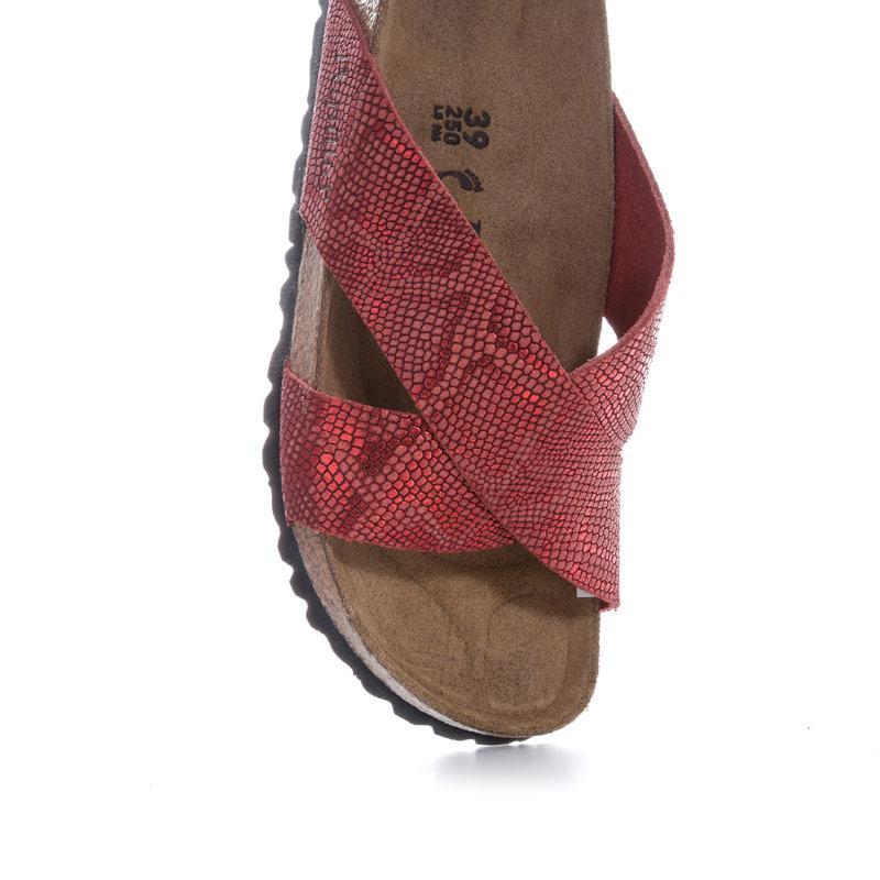 Boty Papillio Womens Daytona Leather Sandals Narrow Width Red