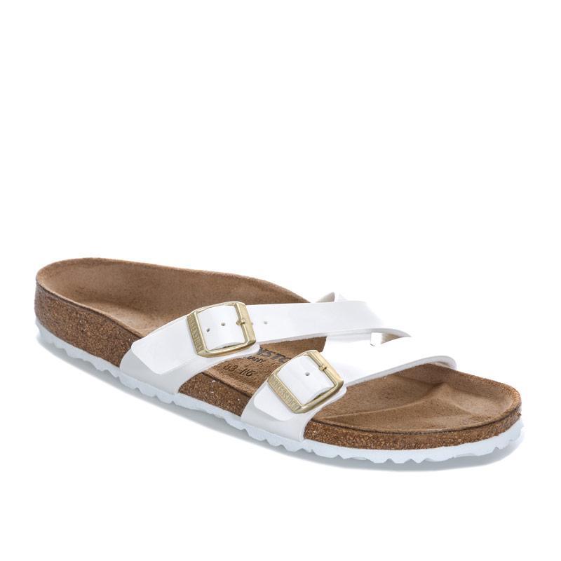 Boty Birkenstock Womens Yao Balance Patent Sandals Narrow Width White