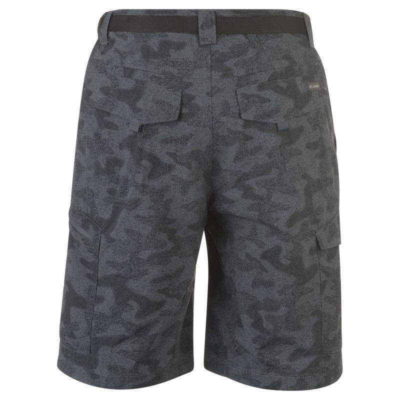 Columbia Ridge Belted Shorts Mens Black Heather