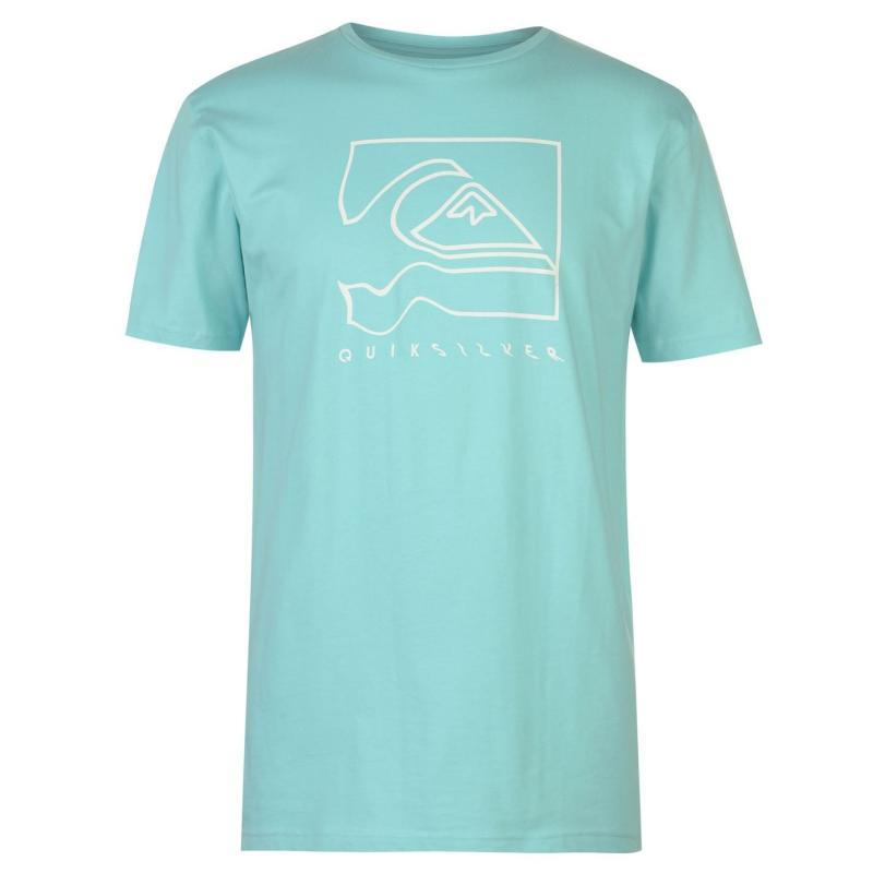 Tričko Quiksilver Distortion T Shirt Mens Aqua Splash