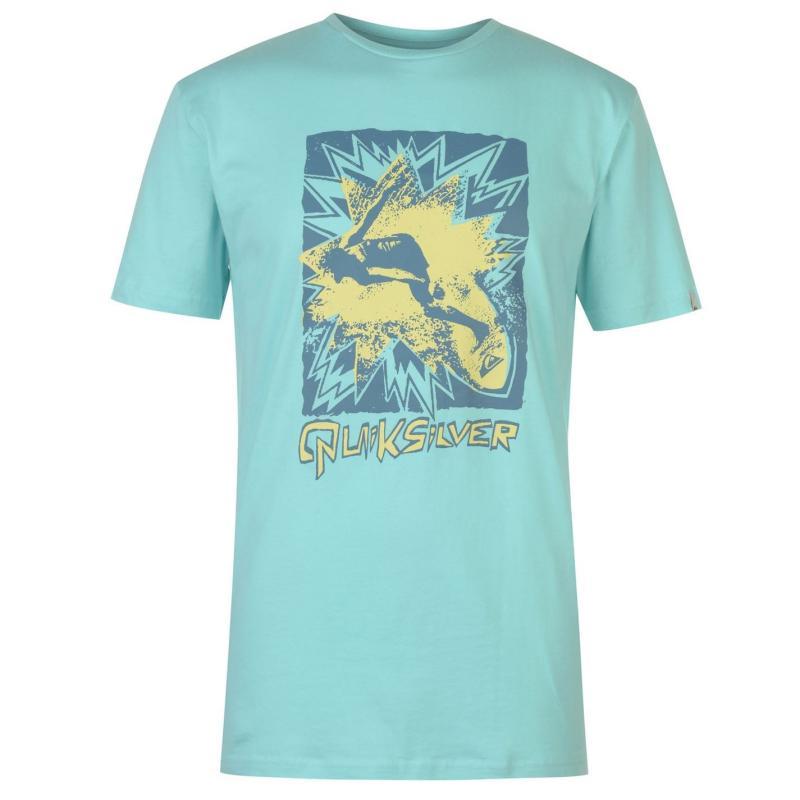 Tričko Quiksilver Firell T Shirt Mens Aqua Splash