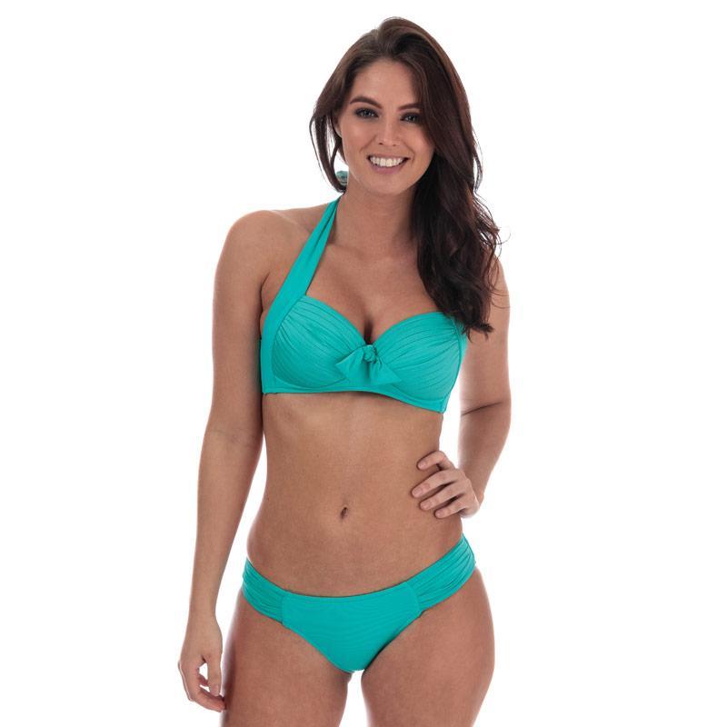 Plavky Seafolly Womens Soft Cup Halter Bikini Top Green