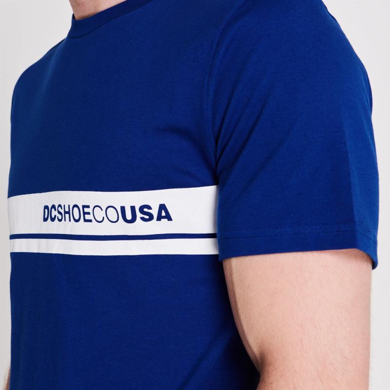Tričko DC Block Colour Short Sleeve T Shirt Mens Black