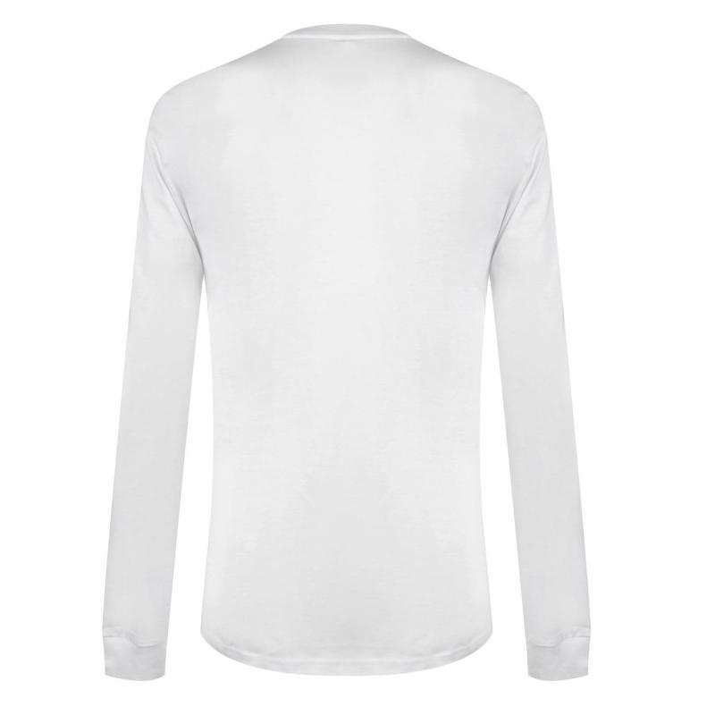 Tričko DC Ode Long Sleeve T Shirt Mens White