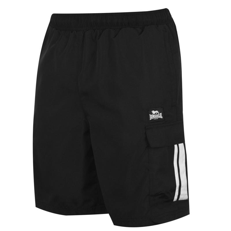 Lonsdale Cargo Shorts Mens Black
