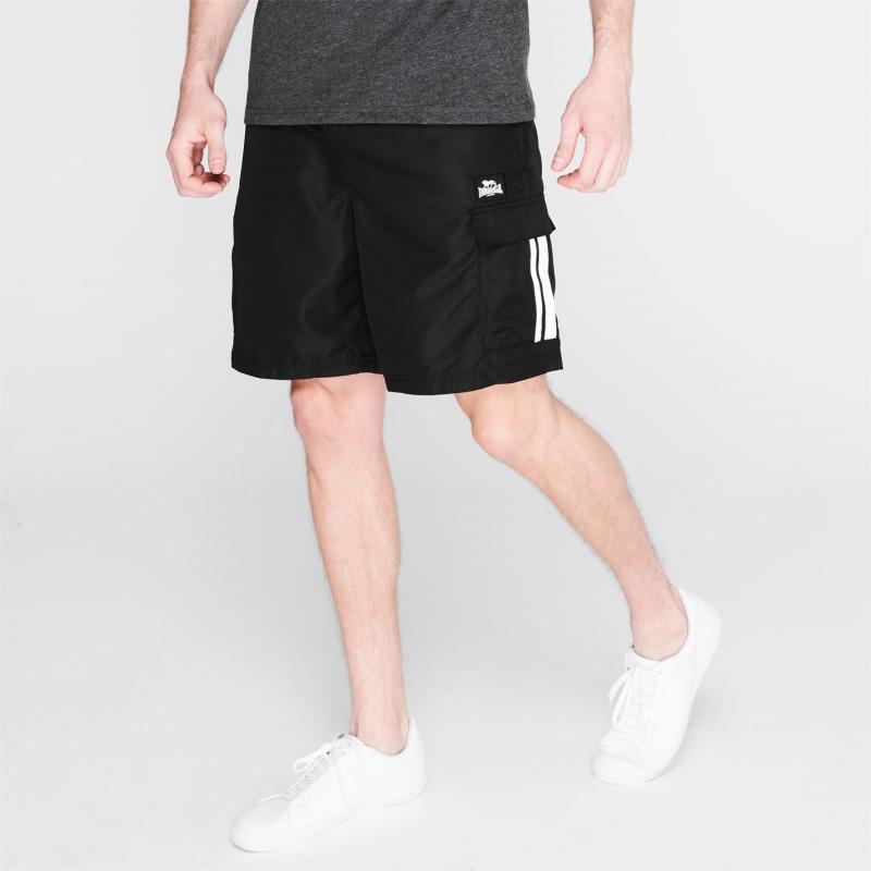 Lonsdale Cargo Shorts Mens Black