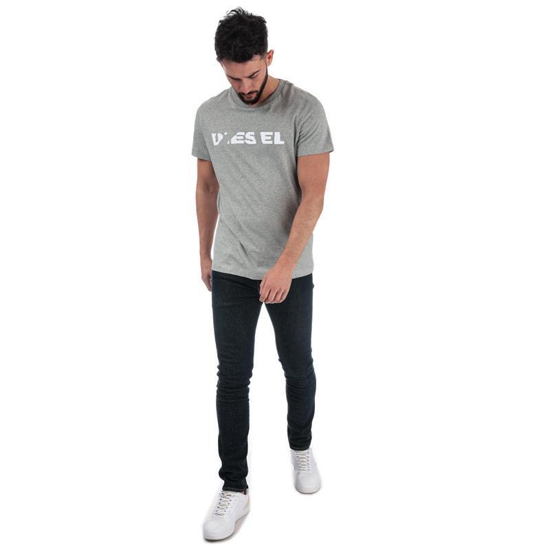 Tričko Diesel Mens T-Diego-Brok T-Shirt Grey