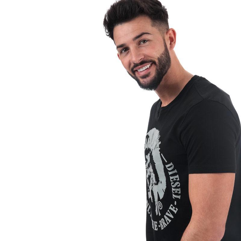 Tričko Diesel Mens T-Diego-FO T-Shirt White