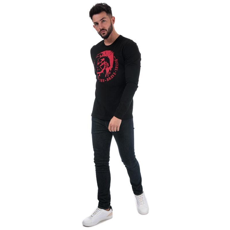 Tričko Diesel Mens T-Diego Long BR T-Shirt Black