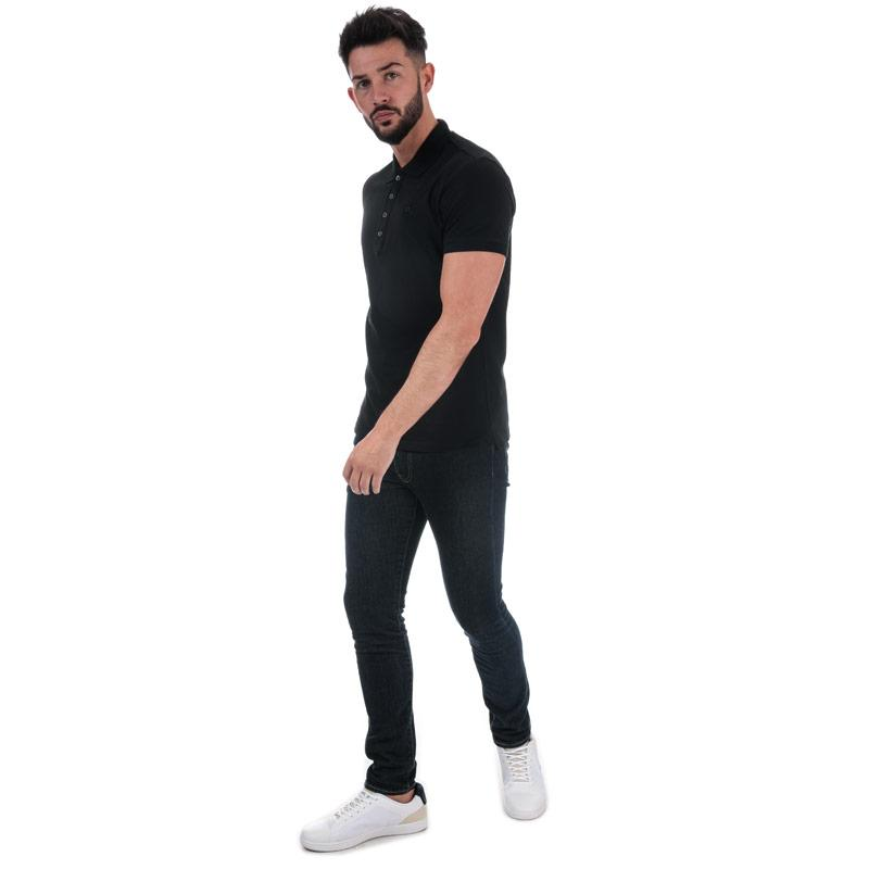 Diesel Mens T-Heal Polo Shirt Black