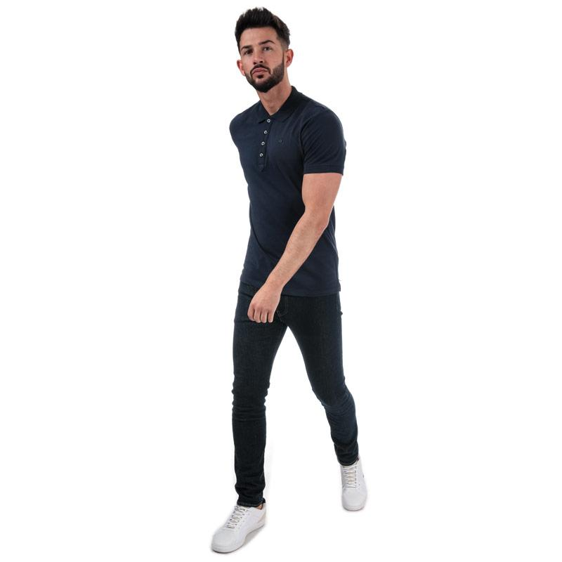 Diesel Mens T-Heal Polo Shirt Navy