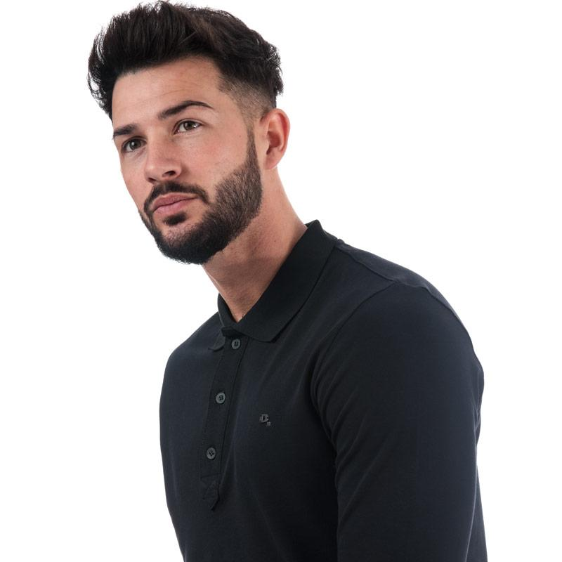 Diesel Mens T-Kalar Long A Rags Polo Navy