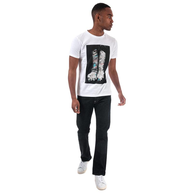 Tričko Replay Mens Tattoo Print T-Shirt White
