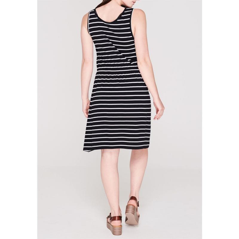 Šaty Miso Striped Jersey Dress Ladies Black/White