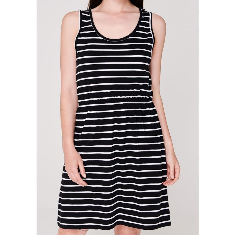 Šaty Miso Striped Jersey Dress Ladies Black/White