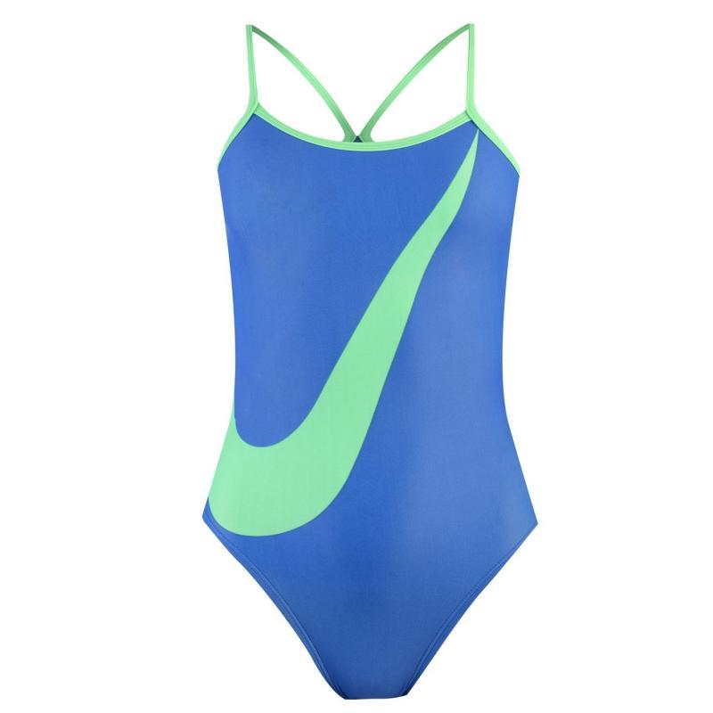 Plavky Nike Swoosh Tank Swimsuit Ladies Game Royal