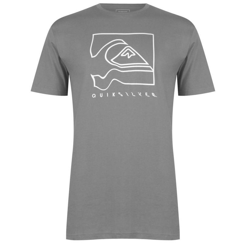 Tričko Quiksilver Distortion T Shirt Mens Shade