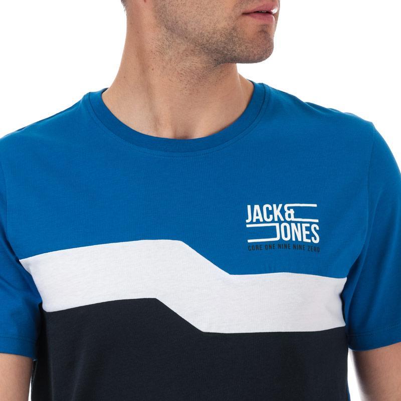 Tričko Jack Jones Mens Mikkell Crew T-Shirt Gold