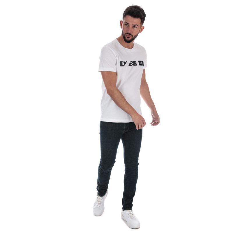 Tričko Diesel Mens T-Diego-Brok T-Shirt White