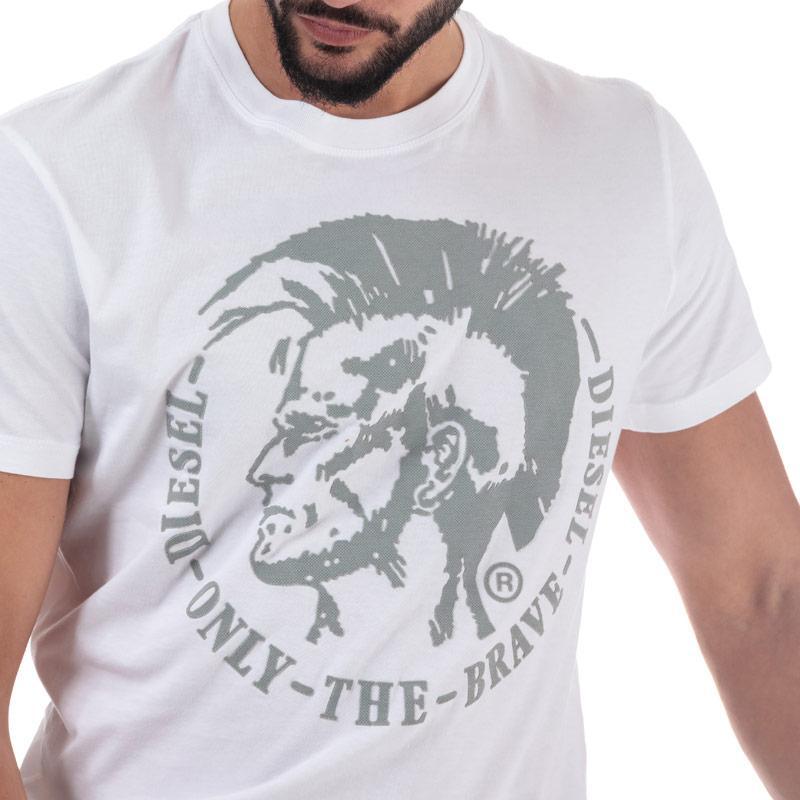 Tričko Diesel Mens T-Diego-FO T-Shirt Black