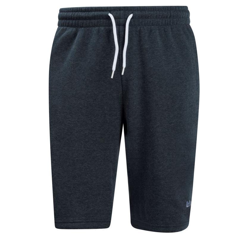 Lee Cooper Fleece Shorts Mens Black