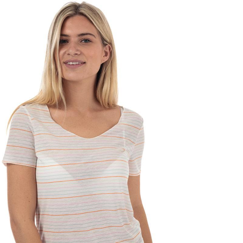 Vero Moda Womens Sanne Lua Stripe T-Shirt White