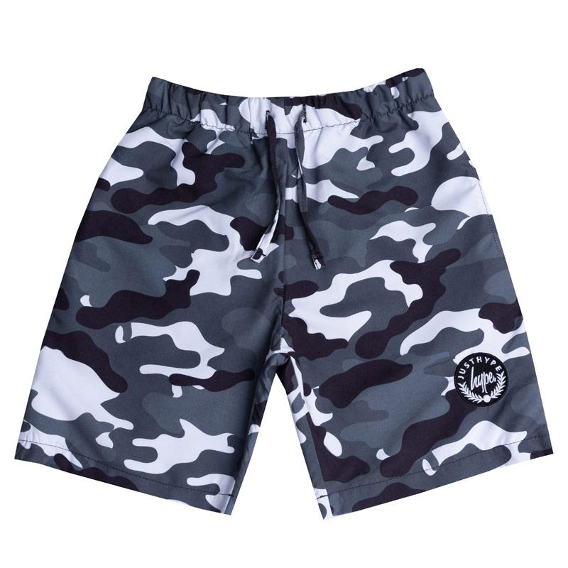 Kraťasy Hype Infant Boys Camo Swim Shorts Black Grey