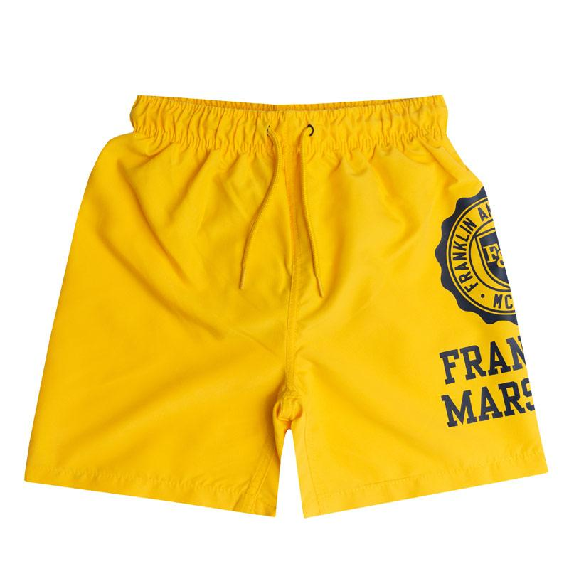 Kraťasy Franklin And Marshall Infant Boys Core Logo Swim Short Lemon