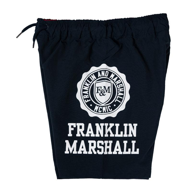 Kraťasy Franklin And Marshall Junior Boys Core Logo Swim Short Lemon