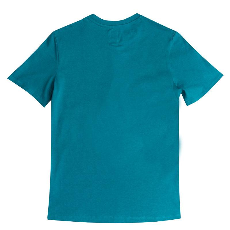 Tričko Franklin And Marshall Junior Boys F&M Logo Crew T-Shirt Blue