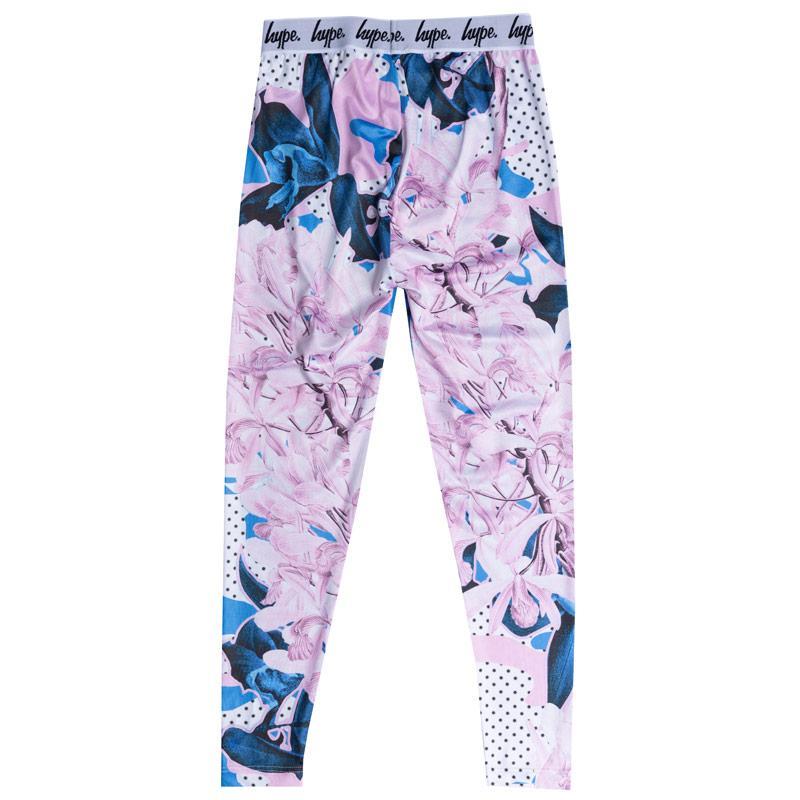 Hype Junior Girls Polka Camo Leggings Pink