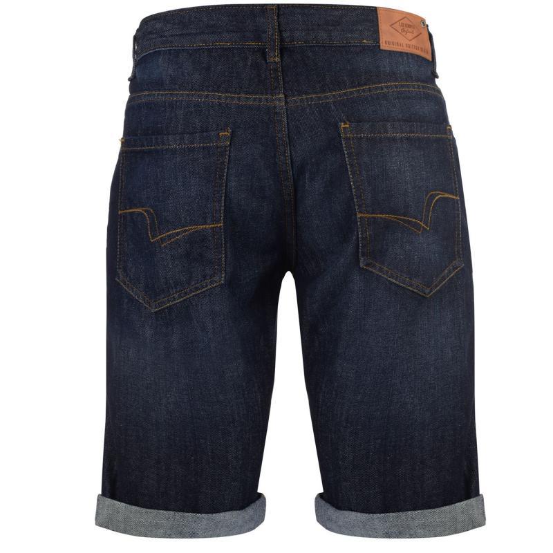 Lee Cooper Denim Shorts Mens Dark Wash