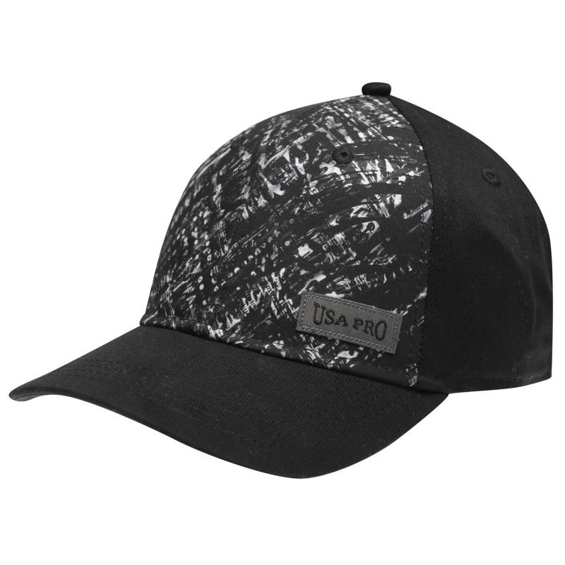 USA Pro Print Baseball Cap Junior Girls Black