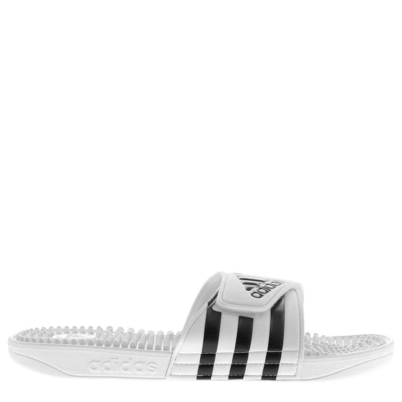 Adidas Adissage Mens Slider Sandals White/Grey