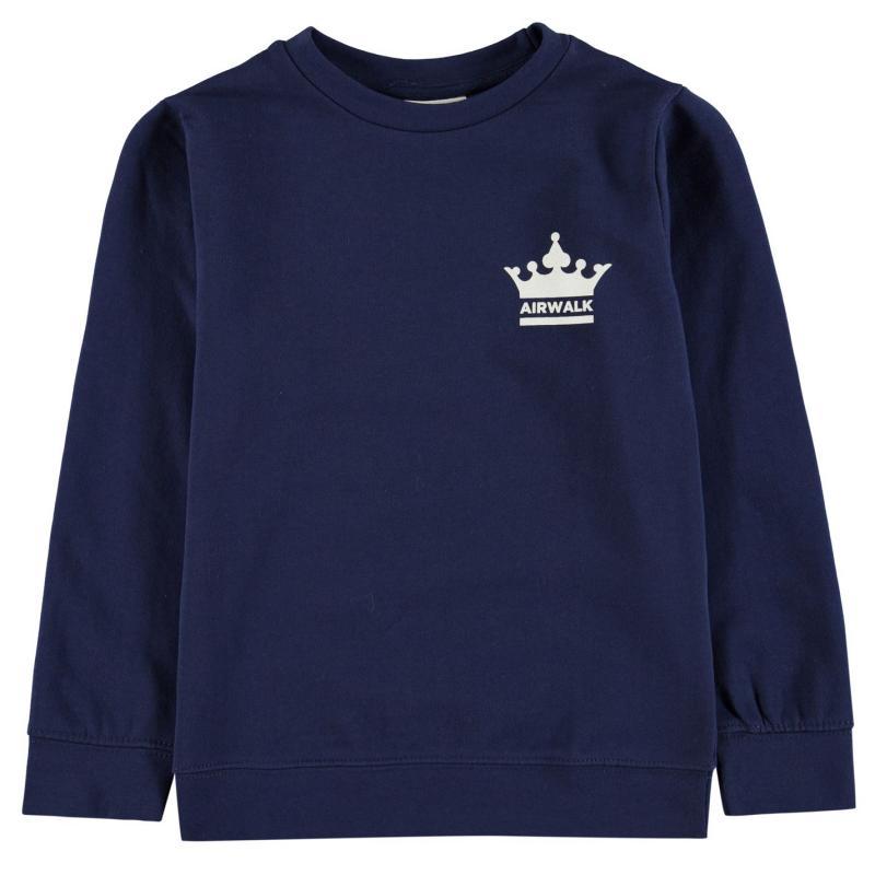 Mikina Airwalk Printed Sweater Junior Boys Navy