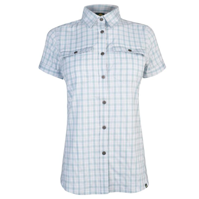 Košile Eastern Mountain Sports Journey Plaid Short Sleeve Shirt Ladies Hydro Plaid